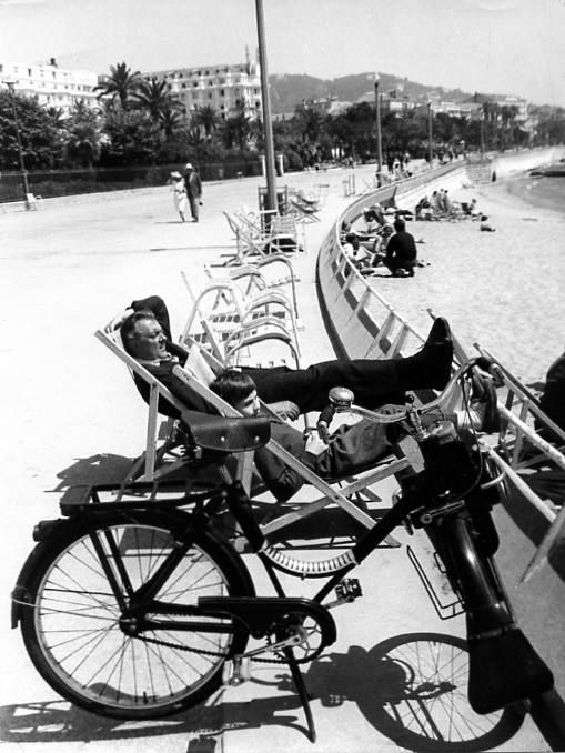 Jacques Tati, probably Cannes, may 1958