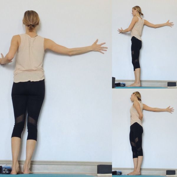 Yin Yoga at the Wall - Extended Arm Stretch                                                                                                                                                      More
