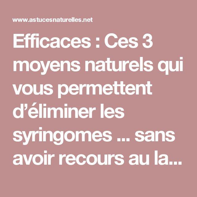 Efficaces : Ces 3 moyens naturels qui vous permettent d'éliminer les syringomes ... sans avoir recours au laser CO2 !