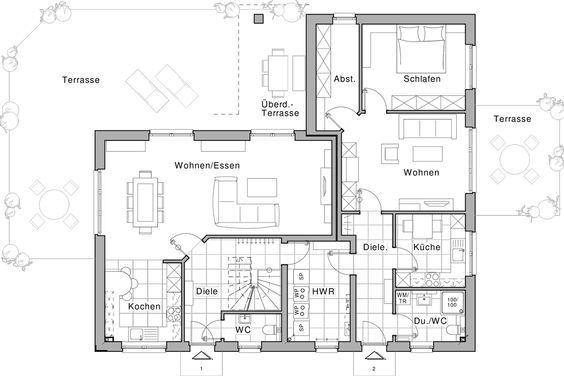 Erdgeschoss, Wohnung 1 und 2 (Einliegerwohnung)