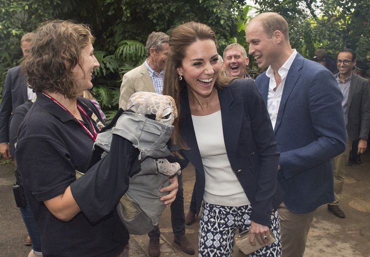 The Duchess of Cambridge flaunted her love of a bargain this morning as she arrived at the Eden Project in Cornwall in a pair of £21.99 patterned trousers from Gap.