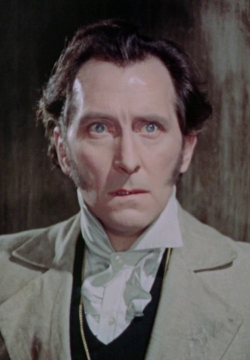 "The Curse of Frankenstein (1957)  Peter Cushing as ""Baron Victor von Frankenstein"""