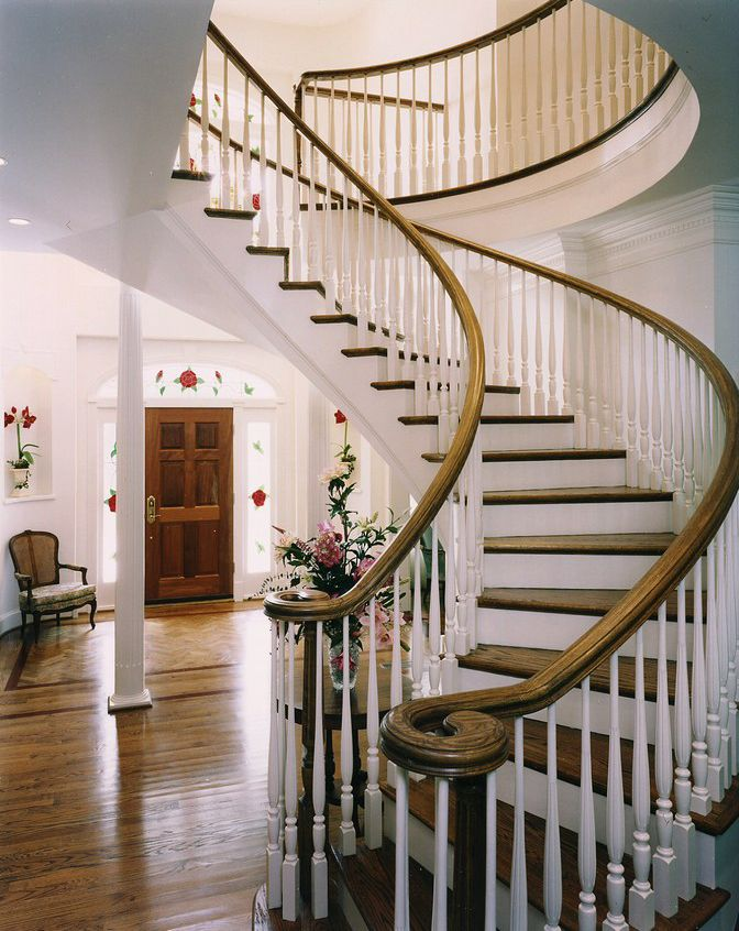 Sweeping Staircase Stairs To Stare At Pinterest