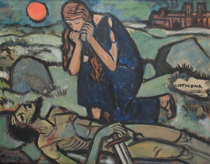 TYMON NIESIOŁOWSKI (1882 - 1965)  ANTYGONA   olej, płótno / 65 x 81 cm