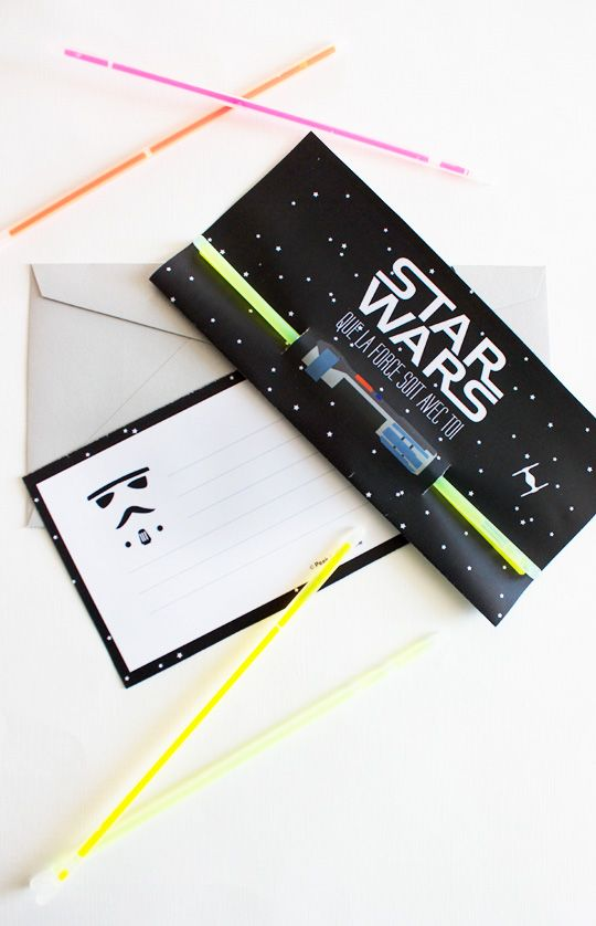Invitación fiesta star wars // Star wars party invite (french)