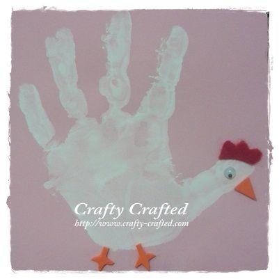 Chicken hand print