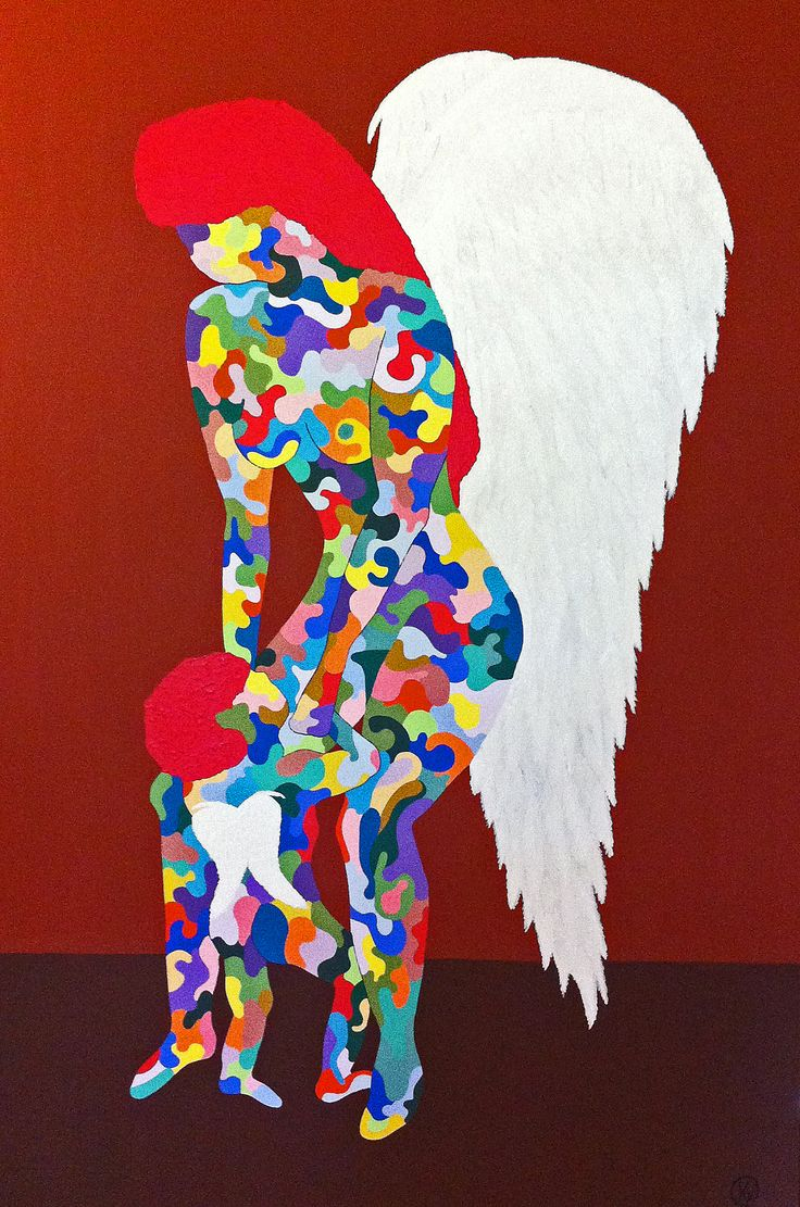 "Titel ""Motherhood"" 150x100 cm. Acrylic Colors"