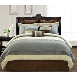 @Overstock.com - This classic comforter set cleverly combines the elegant chenille fabric with contemporary horizontal strips, mixing the old and the new to present a modern look with a traditional twist. This set is sure to enhance any bedroom decor.http://www.overstock.com/Bedding-Bath/Silver-Lake-Luxury-9-piece-Comforter-Set/5899991/product.html?CID=214117 $112.99