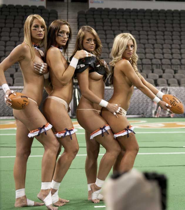 Pity, that Lingerie football league players naked what