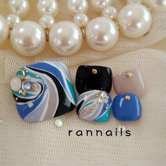 rannailsさんのフットネイル♪[1504864]|ネイルブック