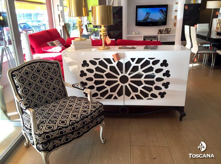 Aparador Franco Furniture ~ #Aparador #Sideboard Franco Furniture en la exposición de #muebles Toscana www francofurniture
