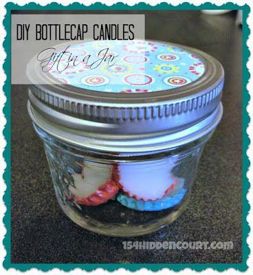 154 Hidden Court: DIY bottle cap candles - Easy Stocking Stuffer
