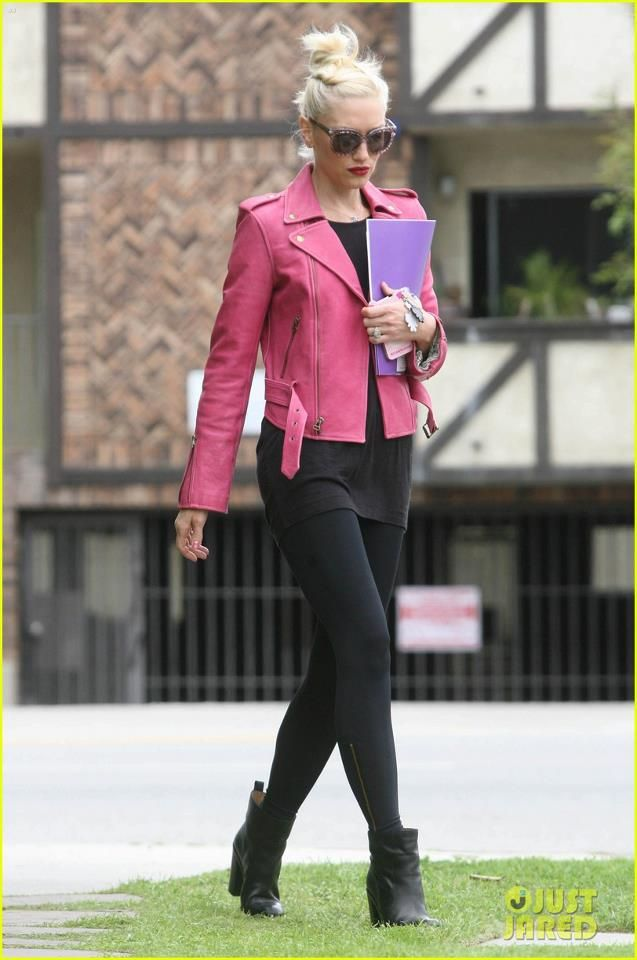 This Jacket Is Super Cute,I Love How It Adds A Girly Yet Edgy Feel To Her Outfit. (: