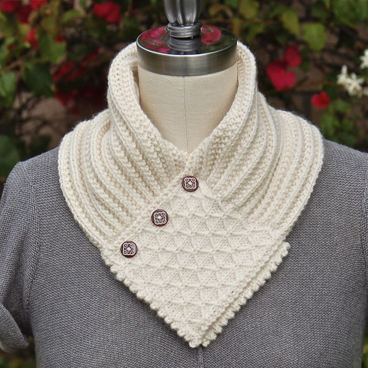 Ravelry: Quilted Lattice Ascot by Pam Powers