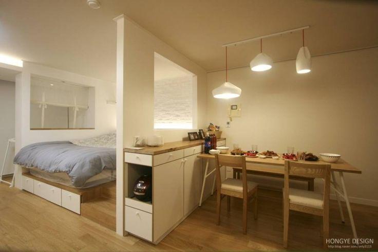 침실.다이닝룸: 홍예디자인의 translation missing: kr.style.침실.모던 침실