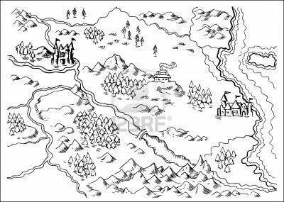 338 best doodle maps images on pinterest maps to draw and travel illustration drawing of a map of a fantasy land showing rivers mountain rangetrees gumiabroncs Gallery