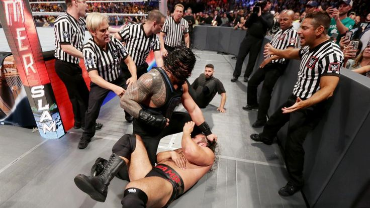 Roman Reigns vs. Rusev – United States Championship Match: photos