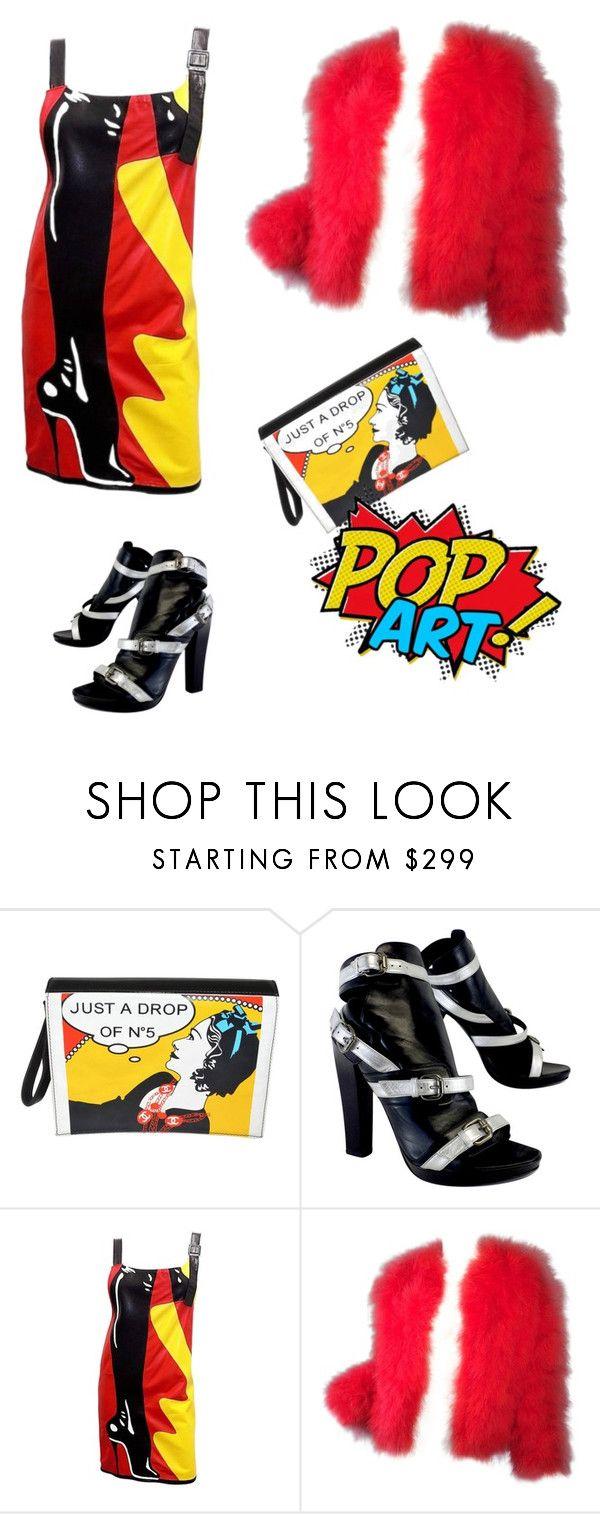 Поп-арт by repriza on Polyvore featuring мода, Bottega Veneta, Karl Lagerfeld and Chanel. Немного хулиганства. Образ в стиле поп-арт. Неожиданно - сумочка от Шанель.