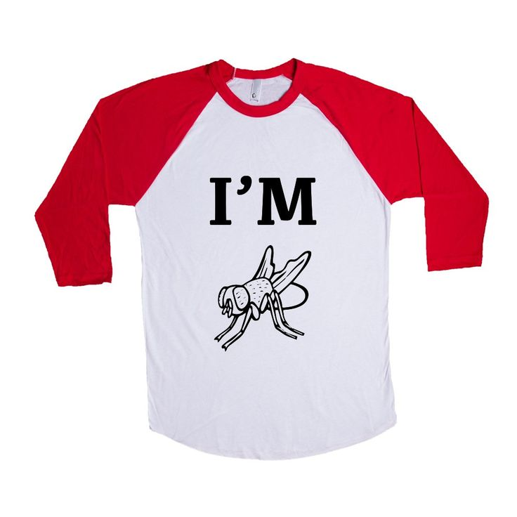 I'm Fly Cool Hip Flies Animal Animals Insect Insects Bug Bugs Pun Puns Play On Words Funny SGAL9 Baseball Longsleeve Tee