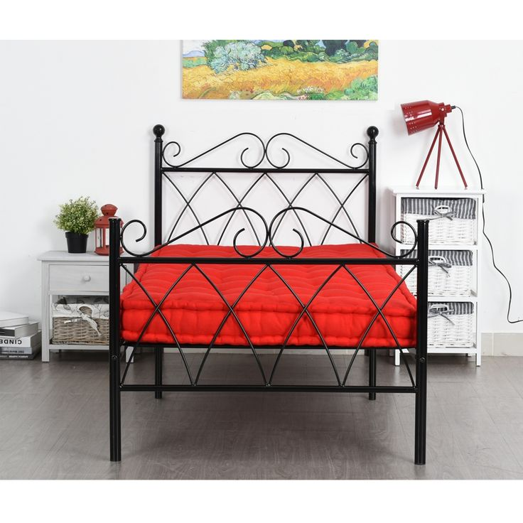 89.99$  Buy here - http://alivft.shopchina.info/go.php?t=32797279448 - Aingoo 3ft Single Metal Bed Frame Solid Bedstead Base for Kids Adults, Black living Room Furniture Twin Size Bed Frame for Home  89.99$ #buyininternet