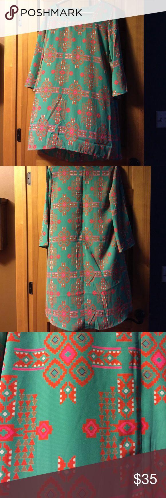 Wrangler Aztec dress! Never worn, nice light fabric, great for summer weddings! Wrangler Dresses Midi