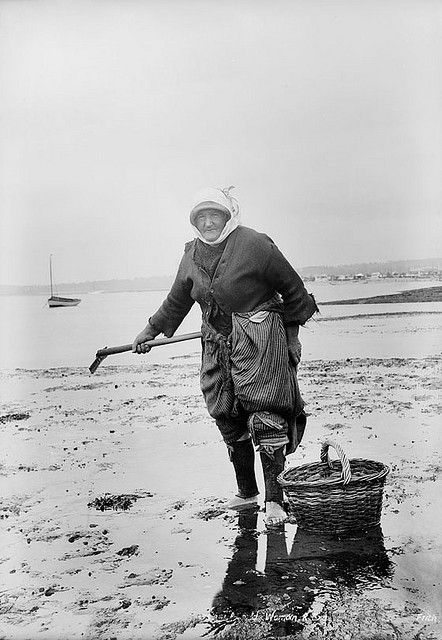 Cockle woman, Exmouth, Devon  circa 1906