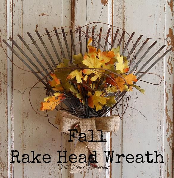 Fall Rake Head Wreath (DIY)