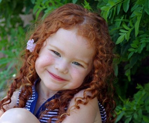 Sweet little Ginger / redhead girl.
