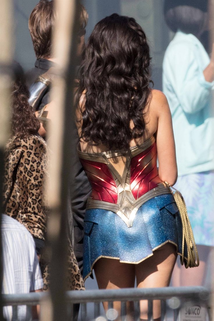 Gal Gadot - Shows Off Her Brand New Wonder Woman Costume -5948