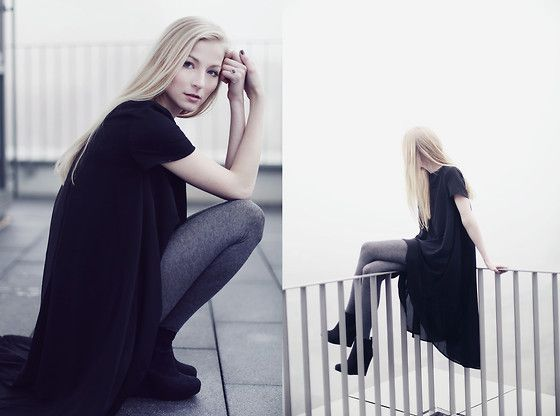 Joana ♡ - Sheinside Dress, H&M Shoes, H&M Tights - The day after tomorrow
