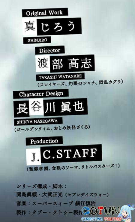 Manga Taboo Tattoo được J.C.Staff chuyển thể thành Anime