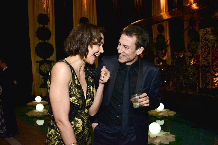 Pin for Later: 12 Costar Reunions You Might Have Missed at the Golden Globes Maggie Gyllenhaal and Tobias Menzies, Hysteria
