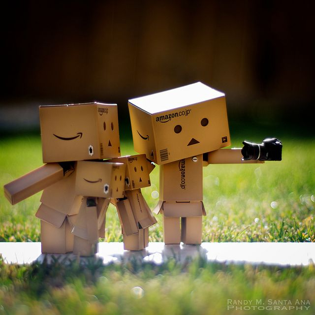 Danbo Family Picture Taking .. I could get addicted to these little guys :)