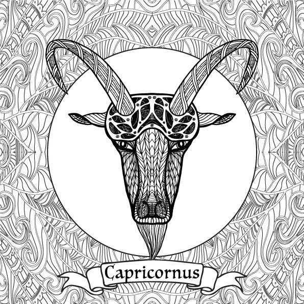 adult coloring pages capricornus for the top adult coloring books and writing