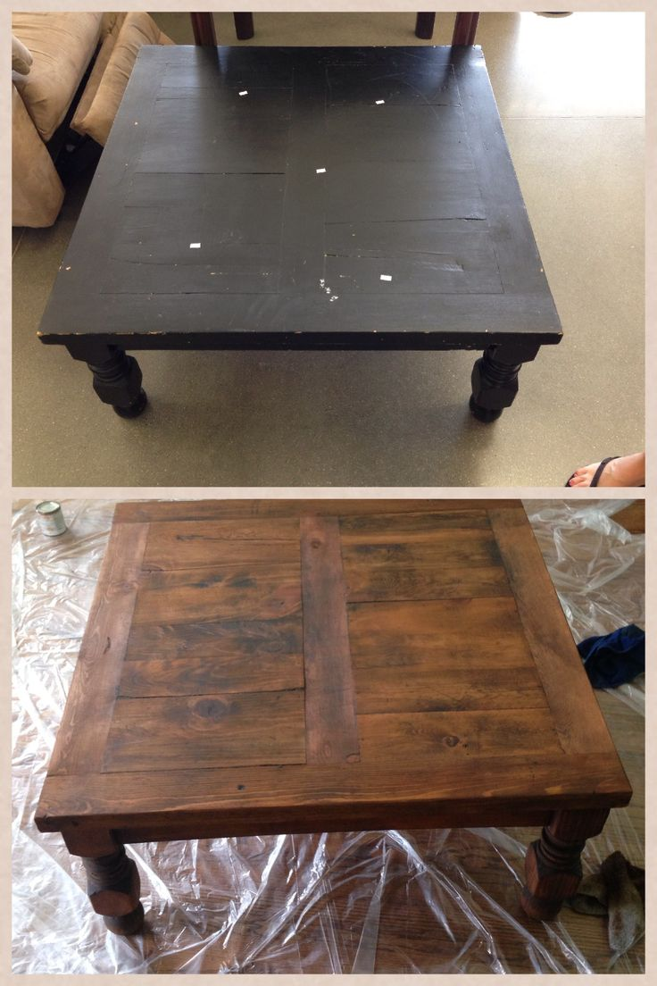 DIY coffee table - love the stain and wood pattern | Makeover - Living Room | Pinterest