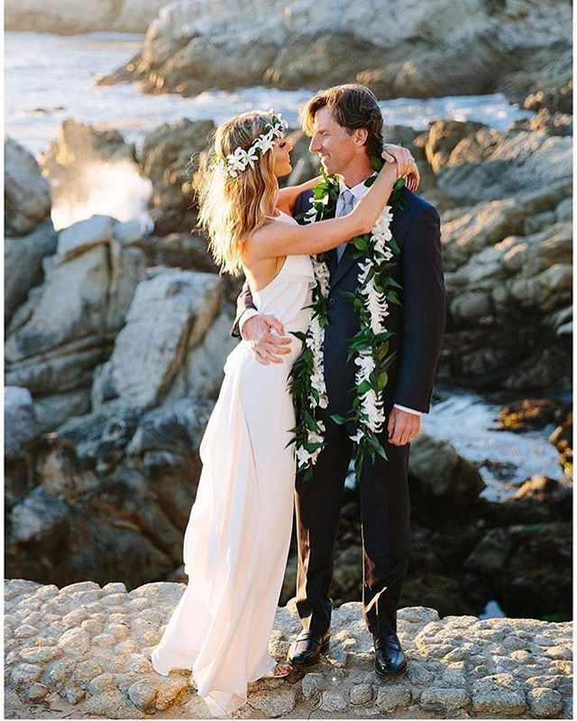 Working on these two lovely peoples album last week, and I fell in love with this wedding all over again 😍 Christine and Bradford on the rocks at sunset. #pebblebeach #california #weddinginspiration #weddingdesign #weddingstyle #makeportraits #style #beauty #hawaii #flowercrown creative team: @rachel_k_events @seascapeflowers @blushmonterey #montereylocals #pebblebeachlocals - posted by Larissa Cleveland Photography https://www.instagram.com/larissaphoto. See more of Pebble Beach at…