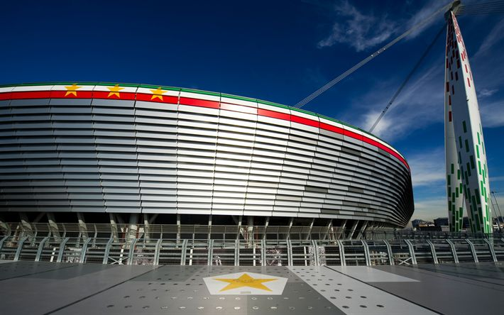 Download imagens Estádio Da Juventus, estádio de futebol, A Juventus, Seria Um, Torino, Itália, modernos estádios desportivos, Allianz Stadium, 4k