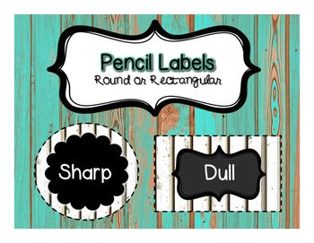 Add a rustic touch to your classroom with these shiplap and chalkboard pencil labels. Decide if you would like round or rectangular!Other Goodies:Burlap and Metal Number LabelsEDITABLE Labels