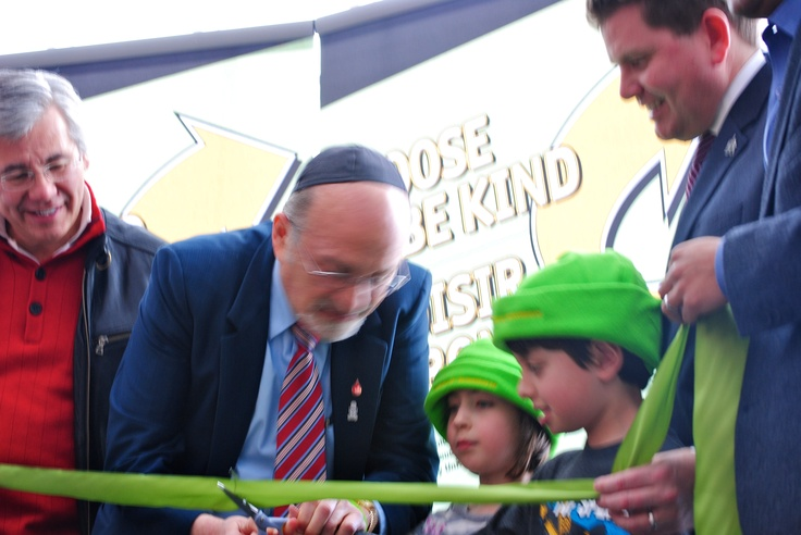 Cutting the ribbon at the Kindness Week launch