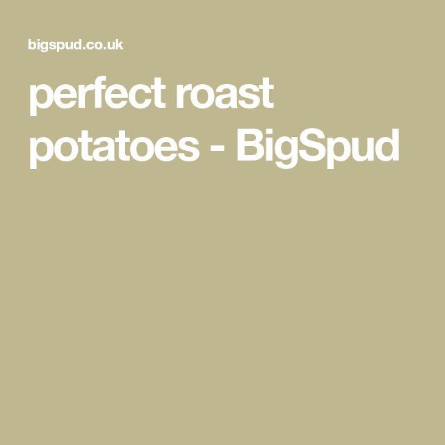perfect roast potatoes - BigSpud