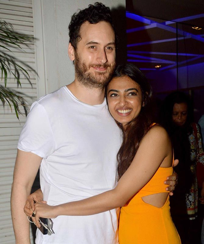 Radhika Apte with husband Benedict Taylor at the screening of #Phobia. #Bollywood #Fashion #Style #Beauty #Hot #Sexy