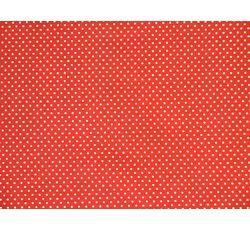 Bavlněné látky - bavlněná látka červená puntík
