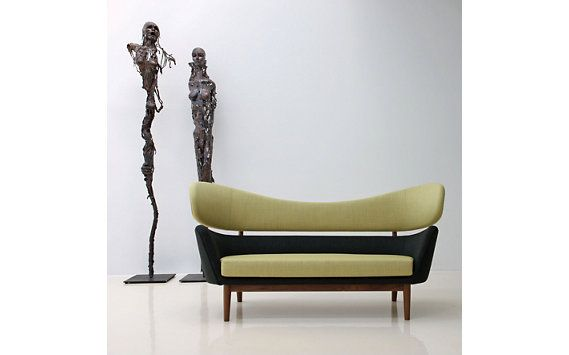 Baker Sofa - Fabric A, Citron.Char - Designed by Finn Juhl, produced by Onecollection, the Baker Sofa was created in 1951.