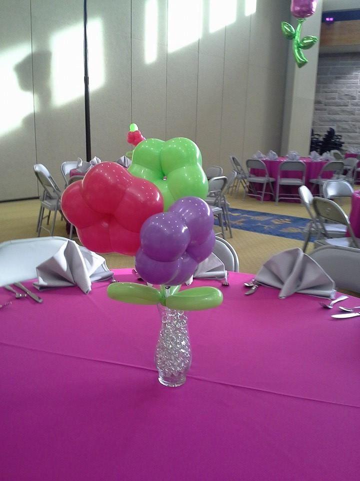 Geo blossom balloon centerpiece design air filled