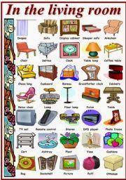 forma divertida de como aprender las partes de la casa en ingles: partes de la sala-parts of the living room