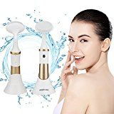KINGDOMCARES Valentines Day Gifts Face Brush Cleansing System Facial Exfoliating Massager Minimizer Acne Blackheads Treatment Waterproof Facial Cleansing Brush AA Battery Electric Exfoliator Golden