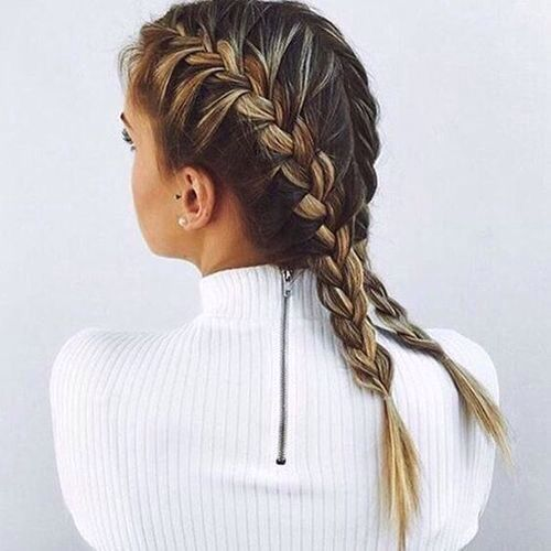 Outstanding 1000 Ideas About Braided Pigtails On Pinterest Pigtail French Hairstyles For Men Maxibearus