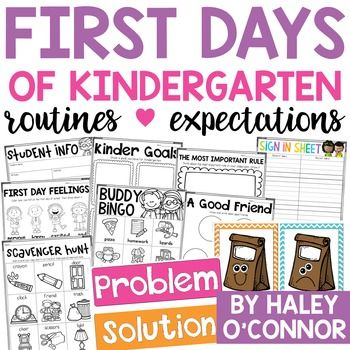 Beginning of the Year Activities and Lessons For Kindergarten