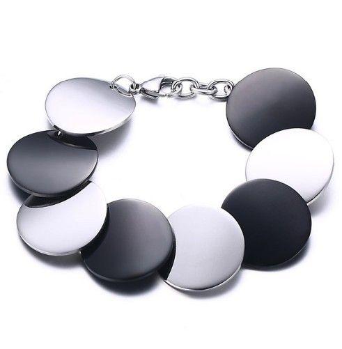 bratara sin otel inoxidabil http://www.bijuteriifrumoase.ro/cumpara/bratara-otel-inoxidabil-disc-black-and-white-3484