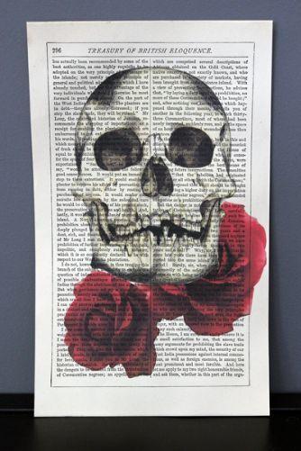 Skull  Roses Print (Unframed) - £9.95